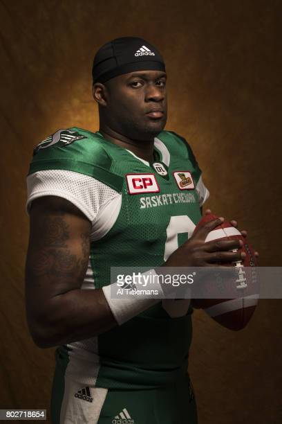 Where Are They Now Portrait of former NFL QB and current Saskatchewan Roughriders QB Vince Young during photo shoot Young who won a BCS National...