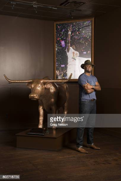 Where Are They Now Portrait of former NFL QB Vince Young during photo shoot at Vince Young Steakhouse Young who won a BCS National Championship in...