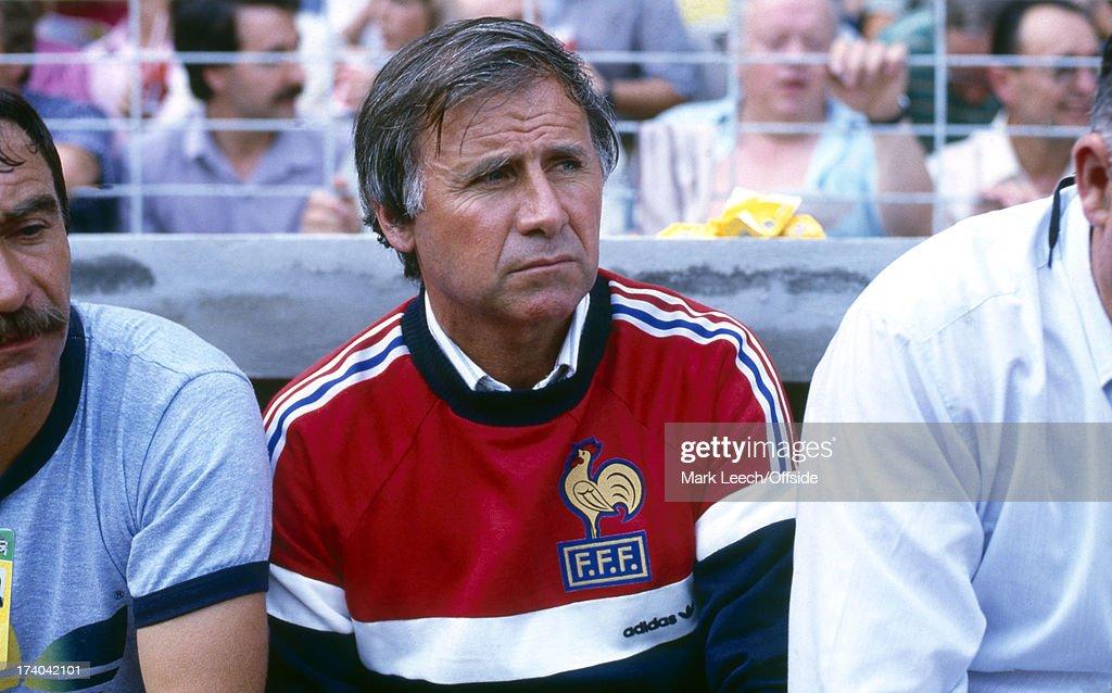 Football World Cup 1982 France v England France manager Michel Hidalgo