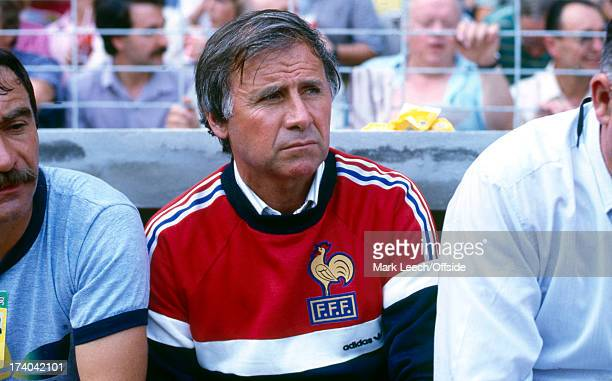 Football World Cup 1982 France v England France manager Michel Hidalgo