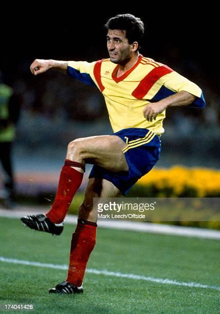 Football World Cup 1990 Argentina v Romania Georghe Hagi