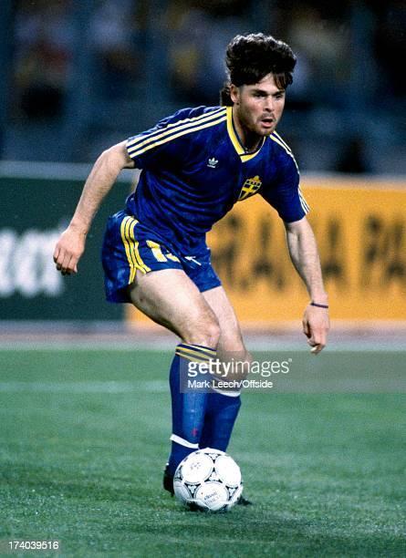 Football World Cup 1990 Brazil v Sweden Anders Limpar