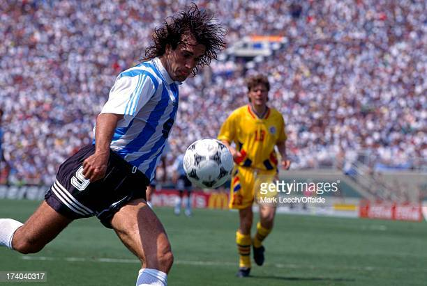 Football World Cup 1994 Argentina v Romania Gabriel Batistuta