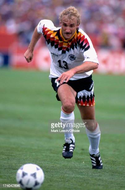 Football World Cup 1994 Belgium v Germany Rudi Voller