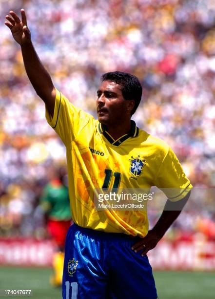 Football World Cup 1994 Brazil v Cameroon Romario waves to the crowd