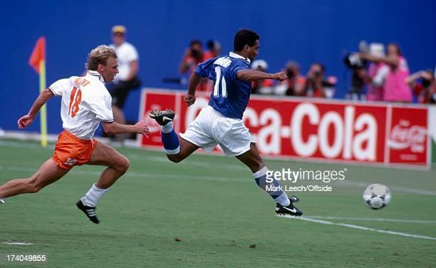 Football World Cup 1994 Brazil v Holland Romario scores the first goal for Brazil