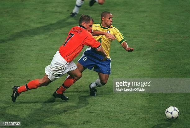 Football World Cup 1998 Brazil v Holland Ronald de Boer and Roberto Carlos