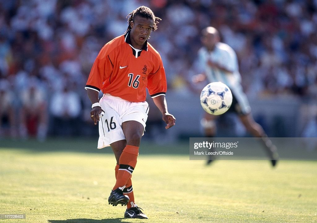 Football World Cup 1998, Holland (The Netherlands) v Argentina, <a gi-track='captionPersonalityLinkClicked' href=/galleries/search?phrase=Edgar+Davids&family=editorial&specificpeople=213130 ng-click='$event.stopPropagation()'>Edgar Davids</a>.
