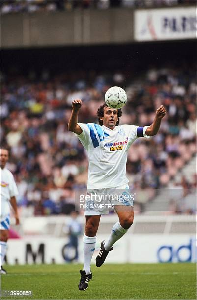 Football world's greatest players at 20th anniversary of 'Variety Club de France' In Paris France On September 11 1991Michel Platini