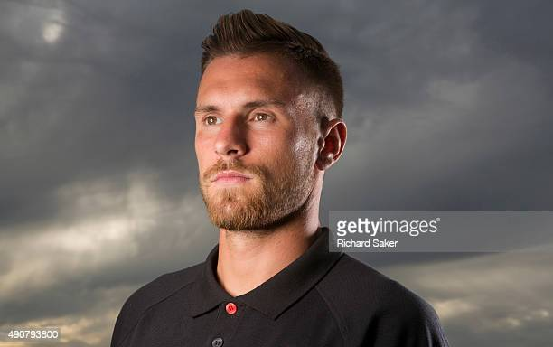 Footballer Aaron Ramsey is photographed for the Observer on July 10 2015 in London England