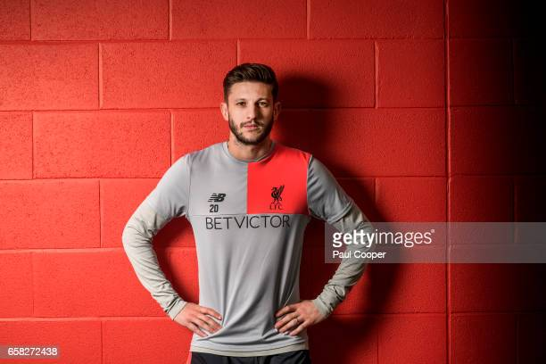 Footballer Adam Lallana is photographed for the Telegraph on March 16 2017 in Liverpool England