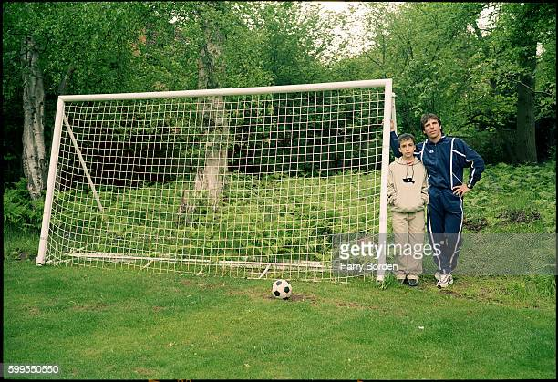 Footballer and manager Gianfranco Zola is photographed for Sportweek magazine on May 16 2003 in Cobham England