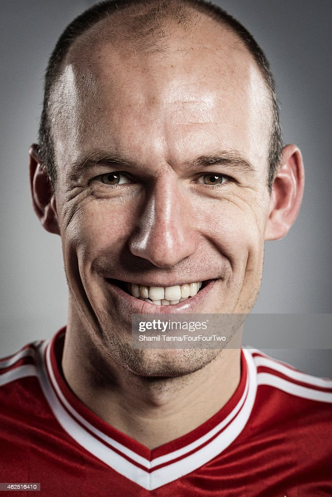 Footballer Arjen Robben is photographed for FourFourTwo magazine on November 6, 2013 in London, England.