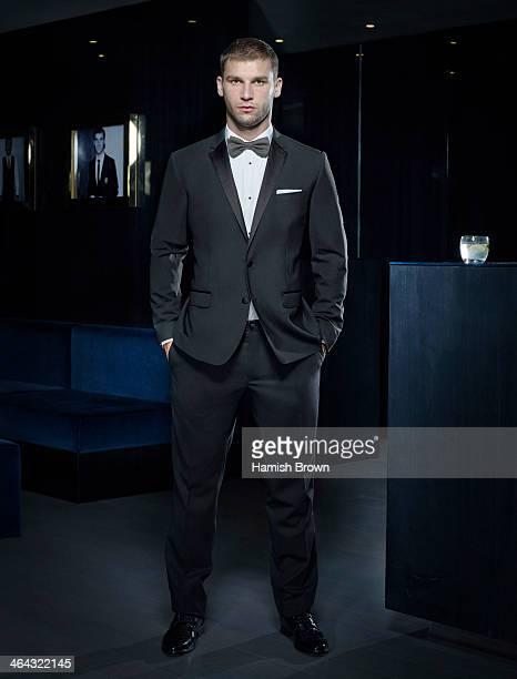 Footballer Branislav Ivanovic is photographed for Men's Health on October 25 2012 in London England