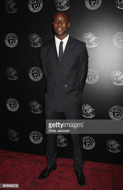 Footballer Carlton Cole arrives for the Collars and Cuffs Ball at the Royal Opera House on September 17 2009 in London England