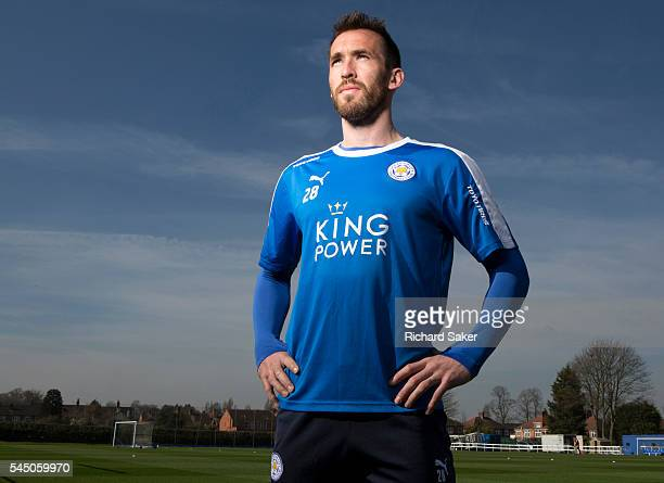 Footballer Christian Fuchs is photographed for the Observer on April 13 2016 in Leicester England