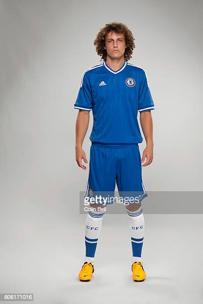 Footballer David Luiz is photographed on July 29 2013 in London England
