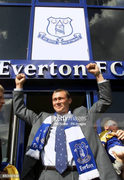Footballer Duncan Ferguson arrives at Everton following his 375million transfer from Newcastle United The Scot was sold to the Magpies for 7million...