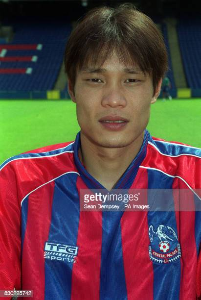 Footballer Fan Zhiyi of Crystal Palace during a photocall at Selhurst Park London ahead of the 19992000 season 20/8/99 Zhiyi has spoken of his...