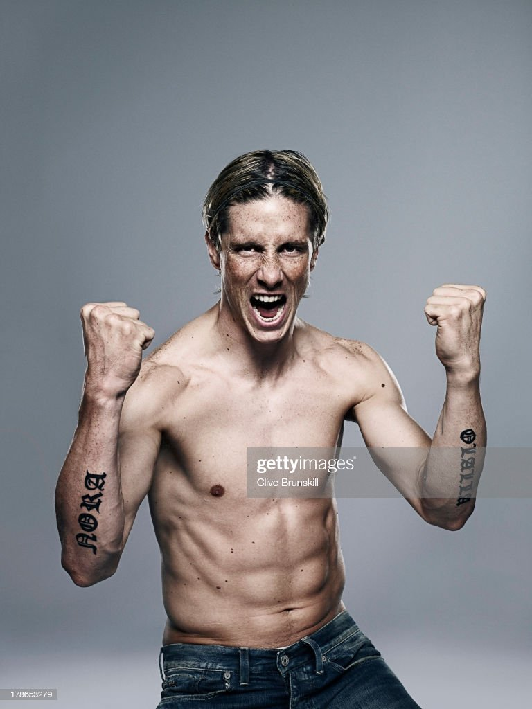 Footballer Fernando Torres is photographed on October 1, 2009 in London, England.