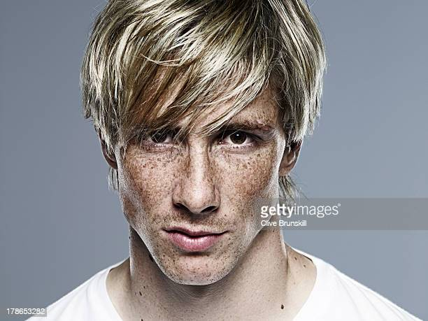 Footballer Fernando Torres is photographed on October 1 2009 in London England