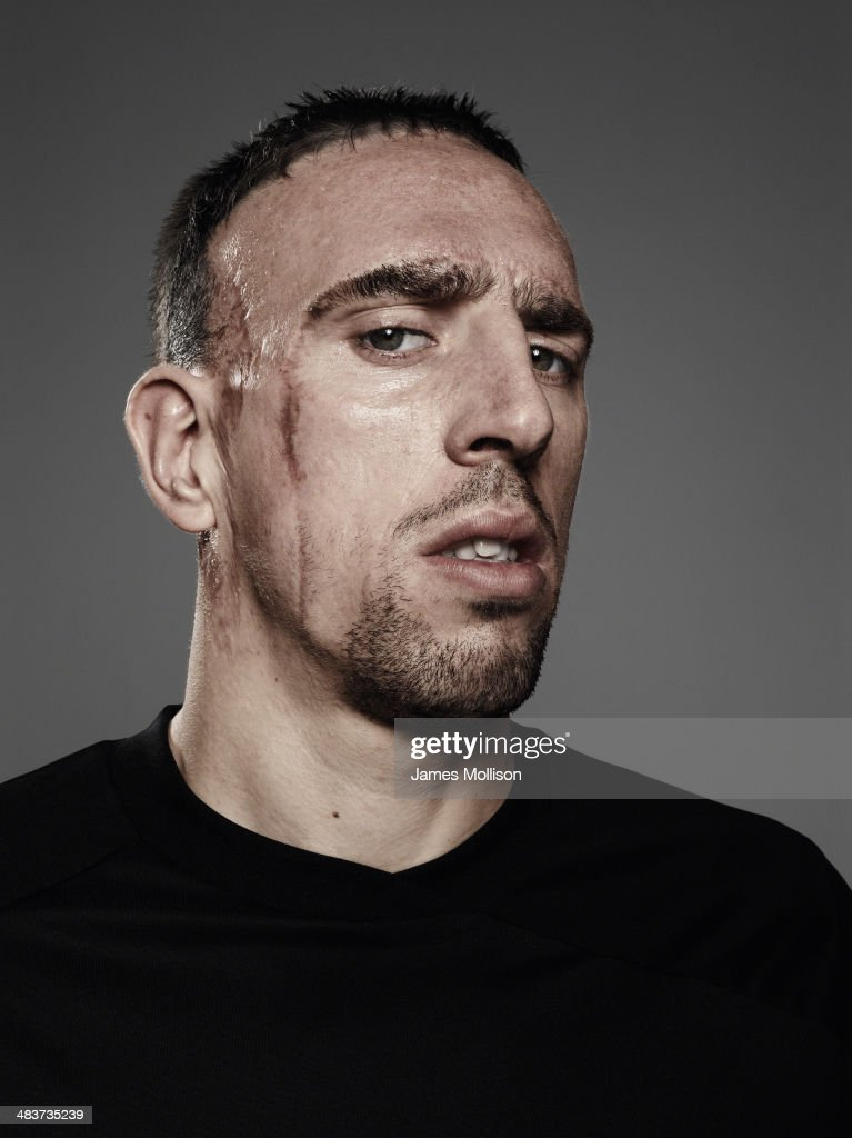 Footballer Franck Ribery is photographed on April 1, 2010 in Paris, France.