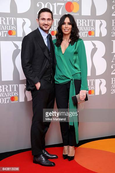 Footballer Frank Lampard and TV Presenter Christine Bleakley attend The BRIT Awards 2017 at The O2 Arena on February 22 2017 in London England