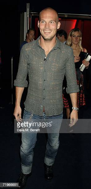Footballer Fredrik Ljungberg attends the fashion show and party to celebrate the launch of Emporio Armani RED collection at Earls Court on September...