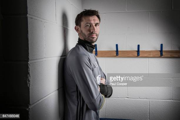 Footballer Gareth McAuley is photographed for the Telegraph on February 27 2017 in West Bromwich England