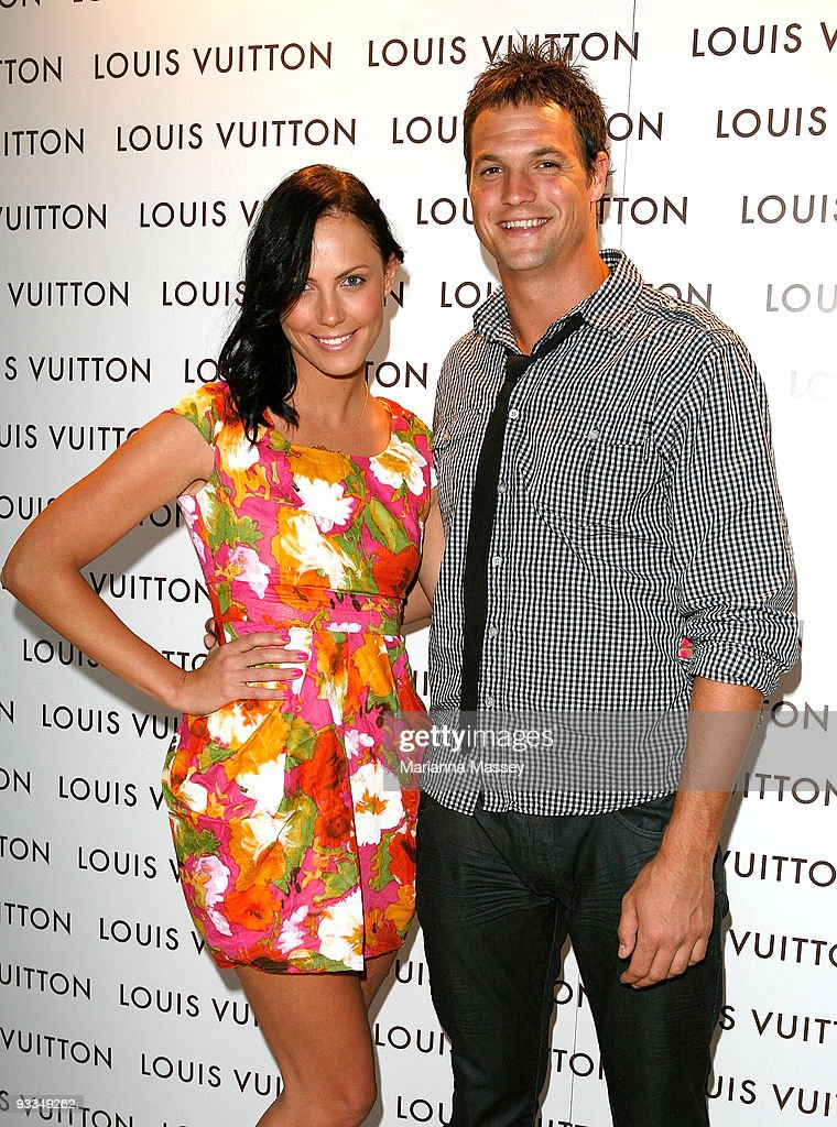 Footballer Graham Polak and Alyce Oksuz arrives for the official opening of the new Louis Vuitton store at the Chadstone Shopping Centre on November 24, 2009 in Melbourne, Australia.