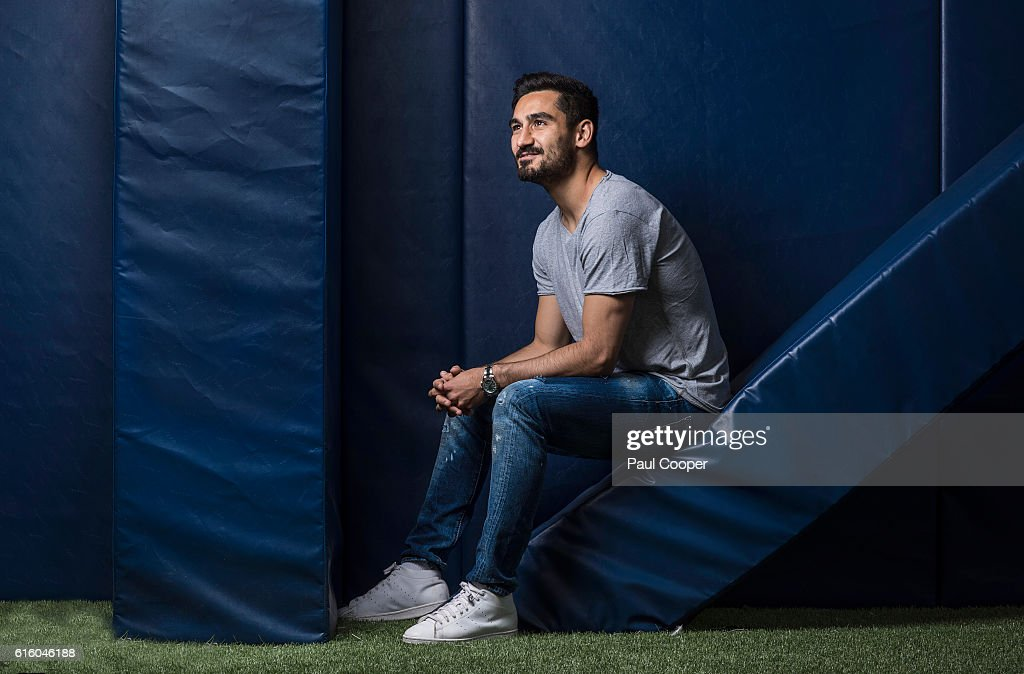 Footballer Ilkay Gundogan is photographed for the Telegraph on July 1, 2016 in Manchester, England.