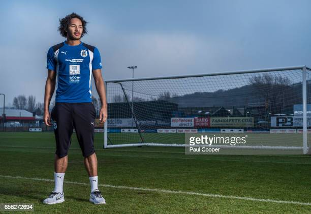 Footballer Izzy Brown is photographed for the Telegraph on February 17 2017 in Huddersfield England