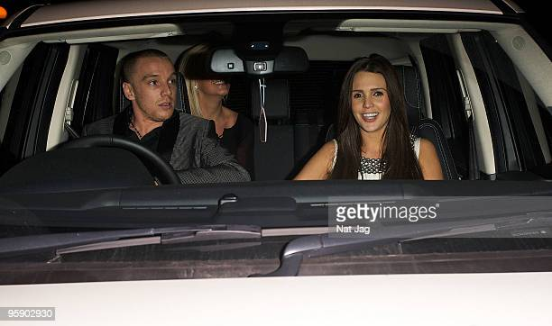 Footballer Jamie O'Hara and model Danielle Lloyd are seen in Mayfair on January 20 2010 in London England