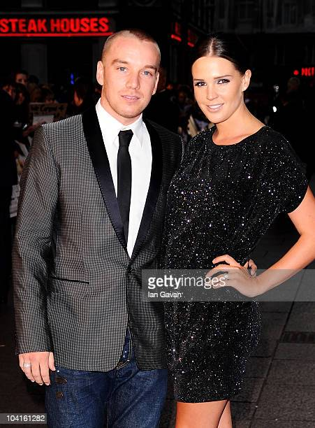 Footballer Jamie O'Hara and model Danielle Lloyd attend 'The Death And Life Of Charlie St Cloud' UK film premiere at the Empire Leicester Square on...