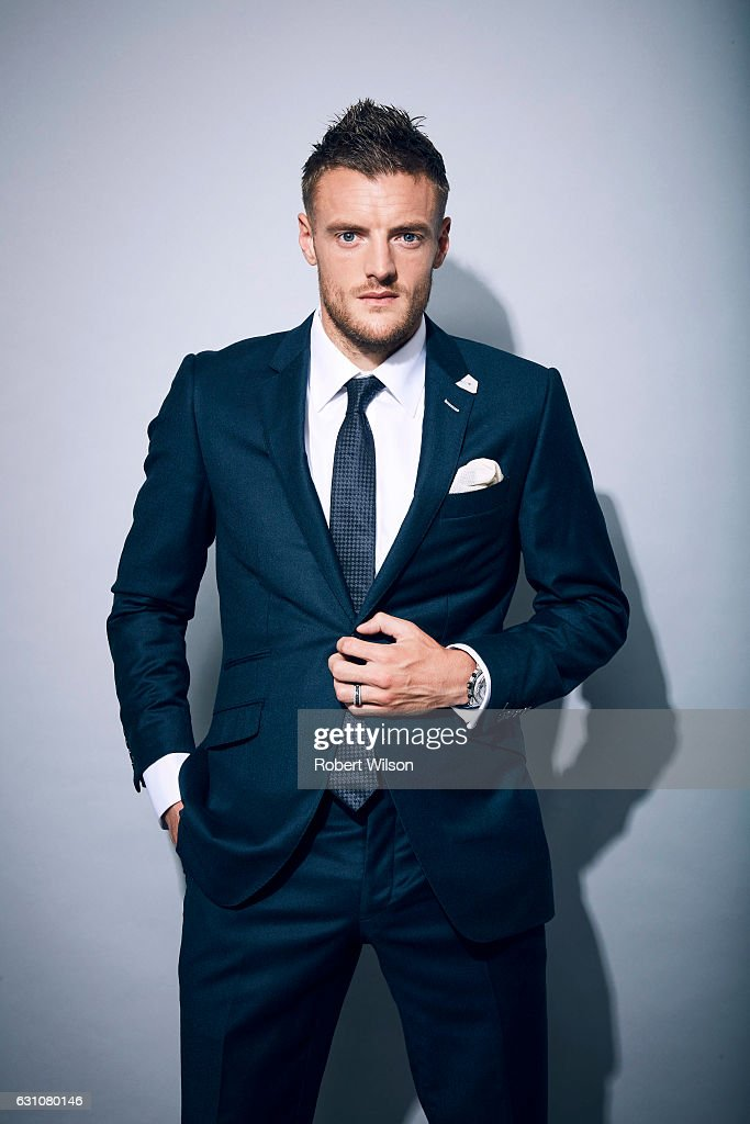Footballer Jamie Vardy is photographed at home with his wife Rebekah for the Times on September 15, 2016 in Melton Mowbray, England.