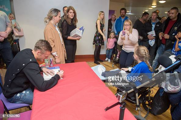 Footballer Jamie Vardy meeting fans and signing copies of his new book 'From Nowhere My Story' on October 13 2016 in Leicester England