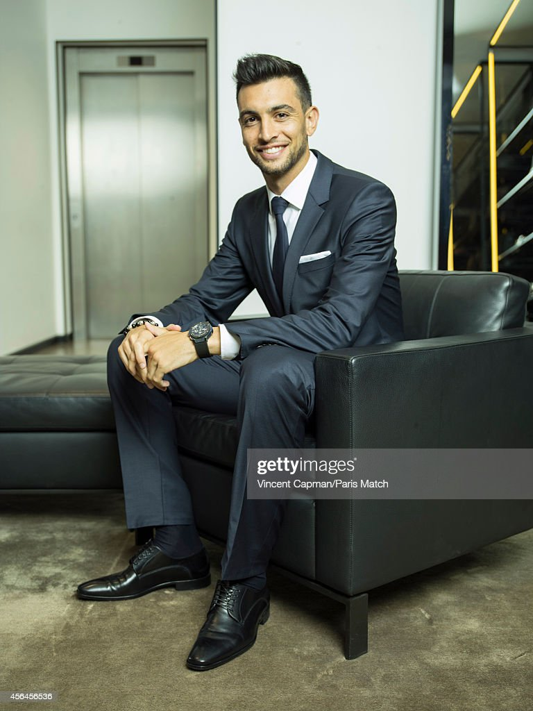 Footballer Javier Pastore is photographed for Paris Match on August 28, 2014 in Paris, France.