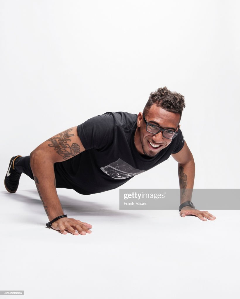 Footballer <a gi-track='captionPersonalityLinkClicked' href=/galleries/search?phrase=Jerome+Boateng&family=editorial&specificpeople=2192287 ng-click='$event.stopPropagation()'>Jerome Boateng</a> is photographed for Sueddeutsche Zeitung magazine in Munich, Germany.
