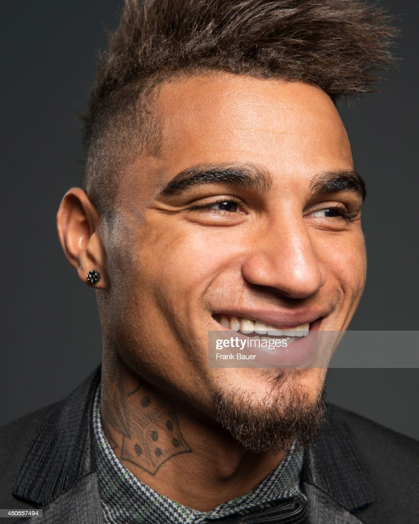 Footballer <a gi-track='captionPersonalityLinkClicked' href=/galleries/search?phrase=Kevin-Prince+Boateng&family=editorial&specificpeople=613049 ng-click='$event.stopPropagation()'>Kevin-Prince Boateng</a> is photographed for Sueddeutsche Zeitung magazine in Milan, Italy.