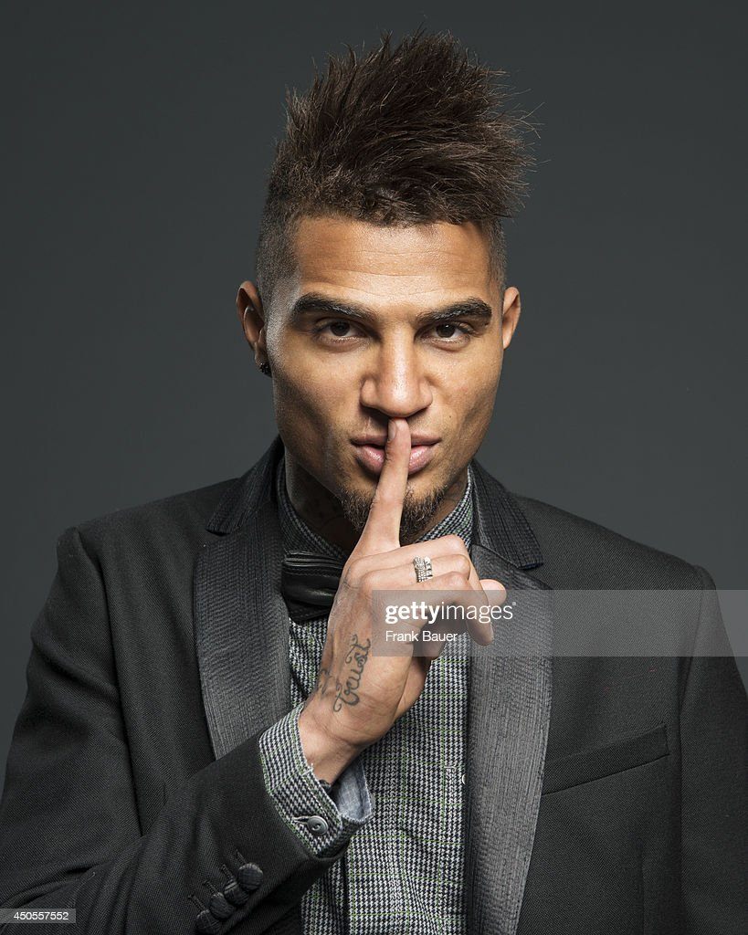 Footballer Kevin-Prince Boateng is photographed for Sueddeutsche Zeitung magazine in Milan, Italy.