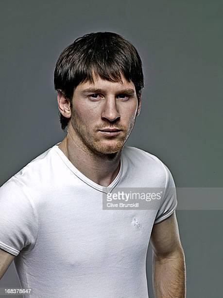 Footballer Lionel Messi is photographed on June 29 2009 in Barcelona Spain