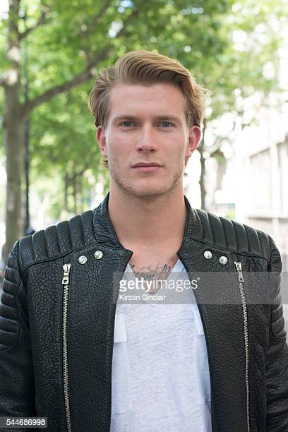 Footballer Loris Karius wears all Balmain on day 4 of Paris Collections Men on June 25 2016 in Paris France Loris Karius