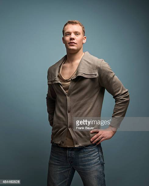 Footballer Manuel Neuer is photographed for Db Mobil magazine in Munich Germany on March 12 2014