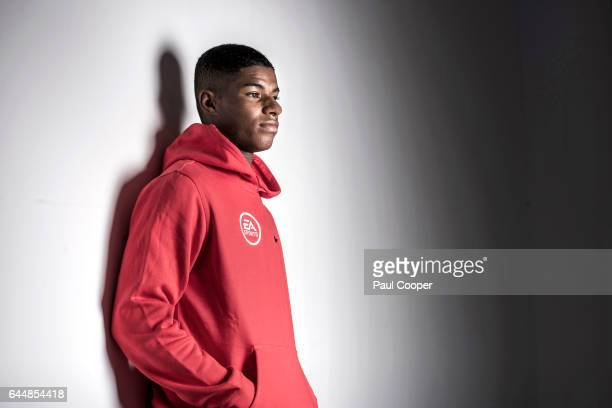 Footballer Marcus Rashford is photographed on February 8 2017 in Manchester England
