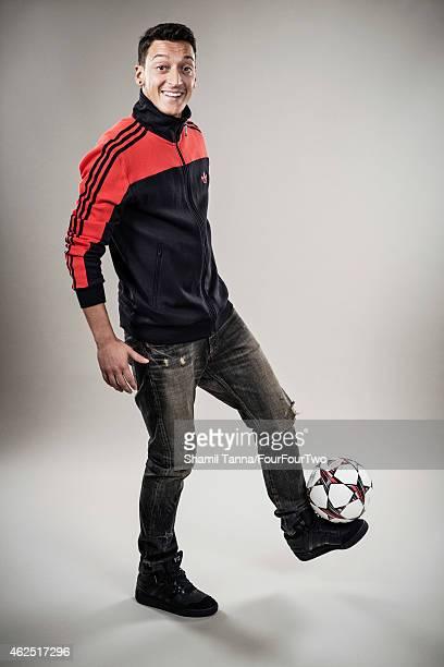 Footballer Mesut Ozil is photographed for FourFourTwo magazine on November 7 2013 in London England