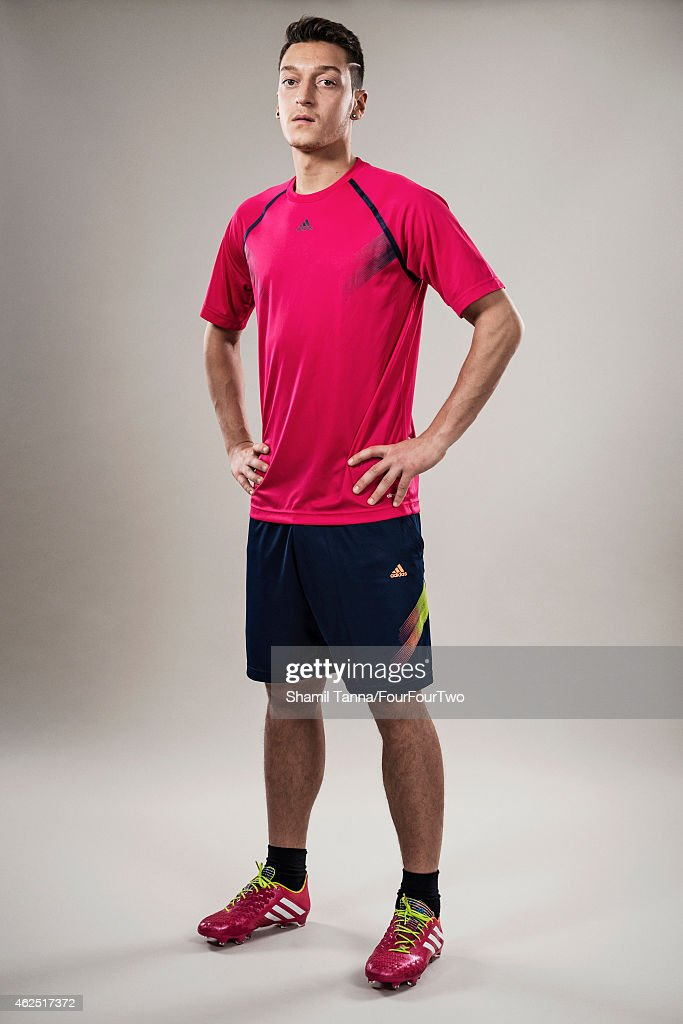 Footballer Mesut Ozil is photographed for FourFourTwo magazine on November 7, 2013 in London, England.