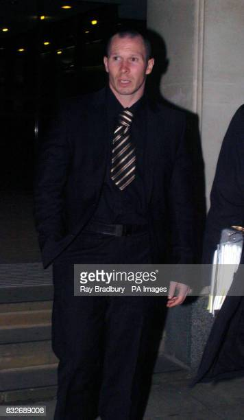 Footballer Michael Appleton leaves Manchester High Court today after a hearing into a wrong diagnosis claim