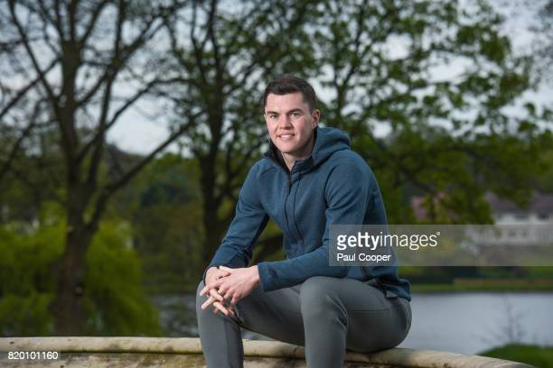 Footballer Michael Keane is photographed for the Sunday Times on April 18 2017 in Burnley England