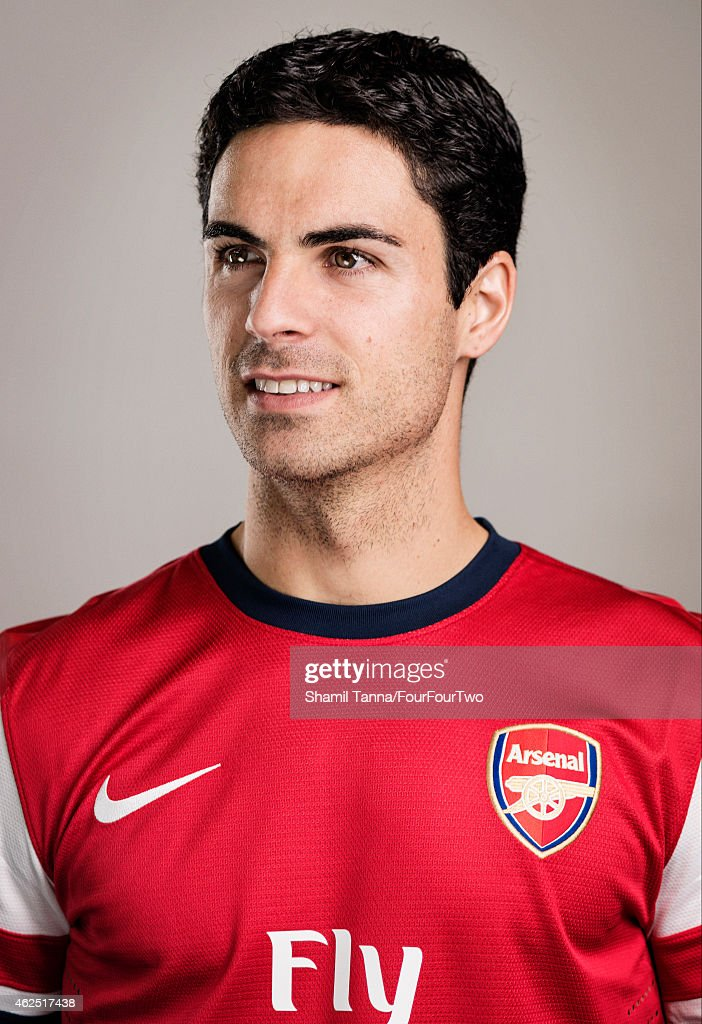 Footballer Mikel Arteta is photographed for FourFourTwo magazine on October 18, 2012 in London, England.