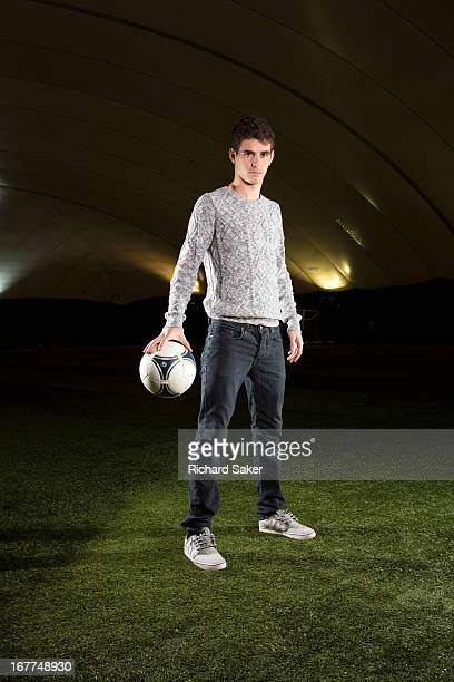 Footballer Oscar dos Santos Emboaba is photographed for the Guardian on March 8 2013 in London England
